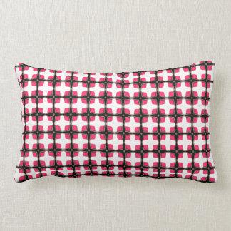 Teste padrão elegante à moda cor-de-rosa e preto travesseiro de decoração