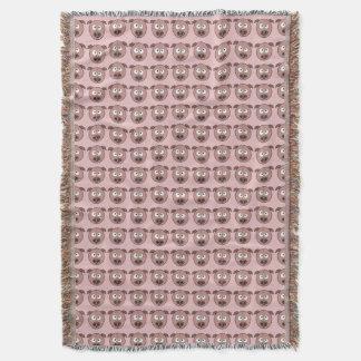 Teste padrão engraçado do porco manta
