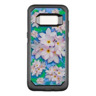 Teste padrão exótico do verão do buquê do Plumeria Capa OtterBox Commuter Para Samsung Galaxy S8