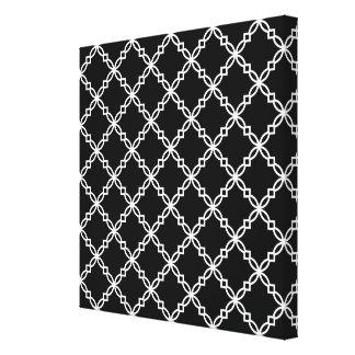 Teste padrão extravagante preto e branco de Quatre