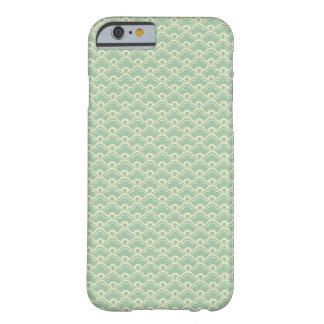 Teste padrão feminino abstrato floral verde do art capa barely there para iPhone 6