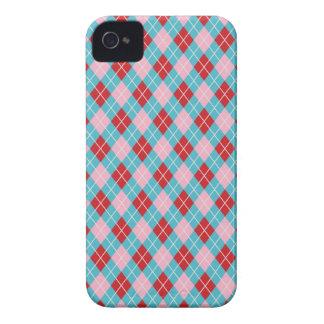 Teste padrão feminino bonito do geek do argyle capinha iPhone 4