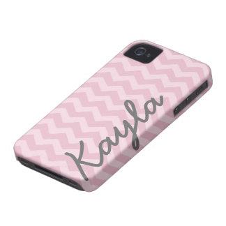 Teste padrão feminino cor-de-rosa personalizado de capinha iPhone 4