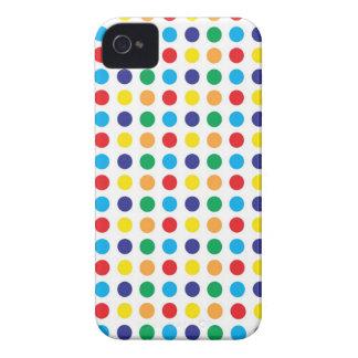 Teste padrão feminino das bolinhas coloridas brilh capas iPhone 4