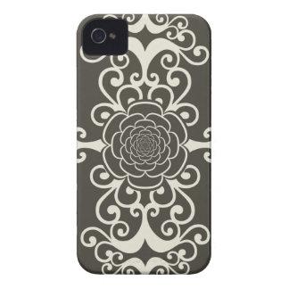Teste padrão feminino do papel de parede do gótico capas iPhone 4 Case-Mate