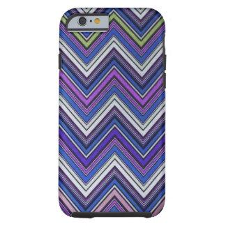 Teste padrão feminino roxo asteca de Chevron do Capa Tough Para iPhone 6