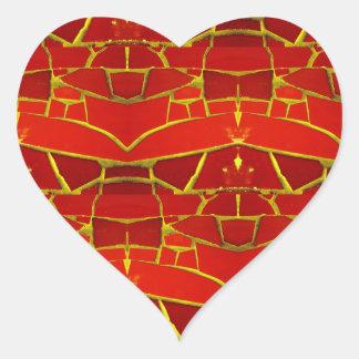 Teste padrão feminino vermelho bonito dos azulejos adesivo coração