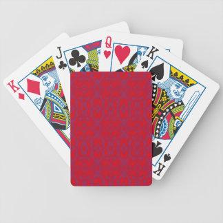 Teste padrão floral abstrato baralhos de pôquer