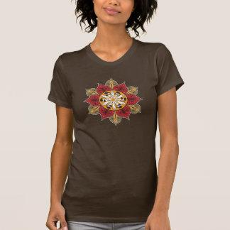 Teste padrão floral abstrato camiseta