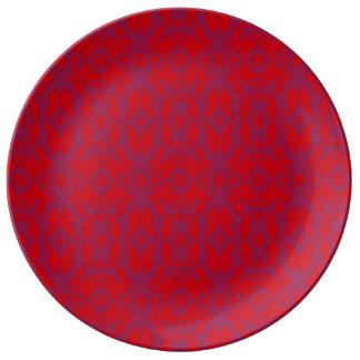 Teste padrão floral abstrato prato de porcelana