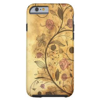 Teste padrão floral antigo capa para iPhone 6 tough
