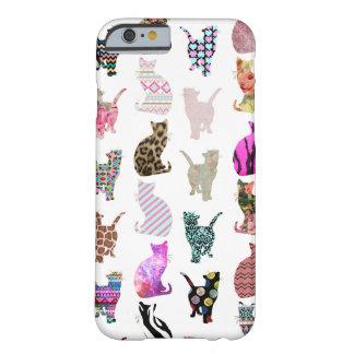 Teste padrão floral asteca das listras dos gatos capa iPhone 6 barely there