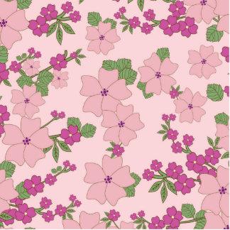 Teste padrão floral bonito cor-de-rosa feminino do foto escultura