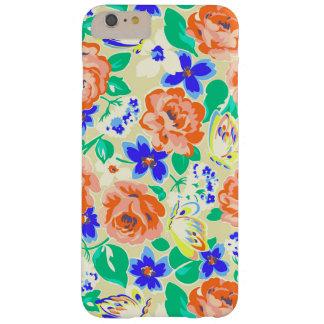 Teste padrão floral colorido bonito capas iPhone 6 plus barely there