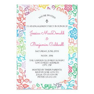 Teste padrão floral - convite da festa de noivado