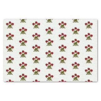 Teste padrão floral da fotografia de três rosas papel de seda