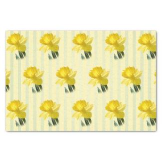 Teste padrão floral da fotografia do Daffodil Papel De Seda