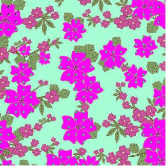 Teste padrão floral das bolinhas verdes fotoescultura