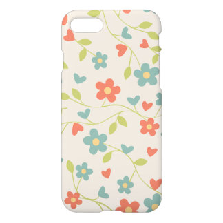 Teste padrão floral das flores e dos corações do capa iPhone 7