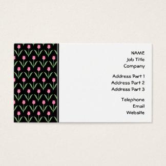 Teste padrão floral das tulipas cartão de visitas