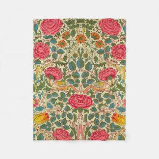 Teste padrão floral de chintz cor-de-rosa do cobertor de lã