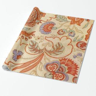 Teste padrão floral de chintz de paisley do papel de presente