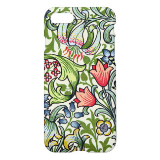 Teste padrão floral de chintz do lírio dourado de capa iPhone 7