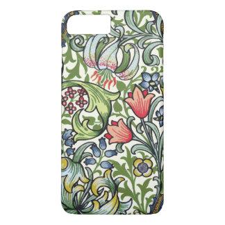 Teste padrão floral de chintz do lírio dourado de capa iPhone 7 plus