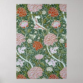 Teste padrão floral de William Morris do vintage Poster