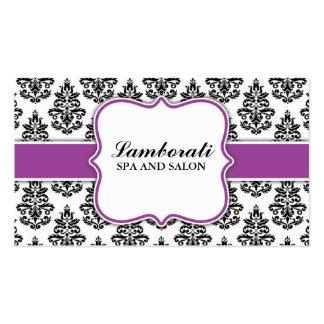 Teste padrão floral do cabeleireiro elegante do sa cartão de visita
