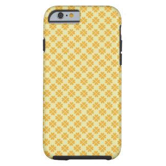 Teste padrão floral do coração do trevo retro do capa tough para iPhone 6