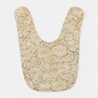 Teste padrão floral do laço velho do Crochet + Babador Infantil