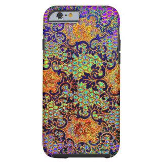 Teste padrão floral do papel de parede psicadélico capa para iPhone 6 tough