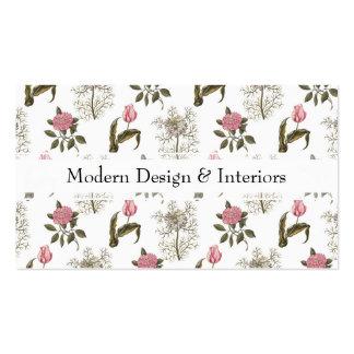 Teste padrão floral do vintage inglês velho do modelos cartões de visita