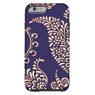 Teste padrão floral feminino do henna de paisley capa para iPhone 6 tough