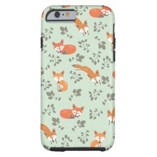 Teste padrão floral Foxy Capa Tough Para iPhone 6