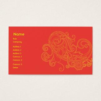 Teste padrão floral - negócio cartão de visitas