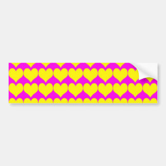 Teste padrão: Fundo cor-de-rosa com corações amare Adesivo Para Carro