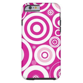 Teste padrão Funky retro feminino cor-de-rosa dos Capa Tough Para iPhone 6