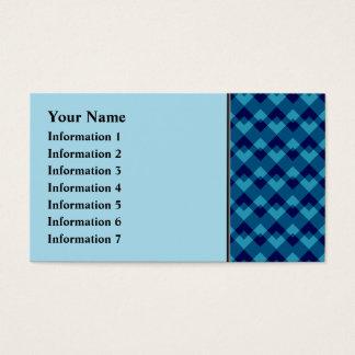 Teste padrão geométrico azul escuro cartão de visitas