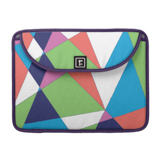 Teste padrão geométrico colorido bolsa para MacBook