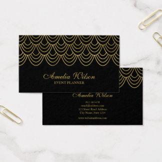 Teste padrão geométrico do ouro elegante do falso cartão de visitas