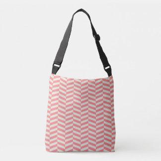 Teste padrão geométrico do ziguezague bege bolsas carteiro