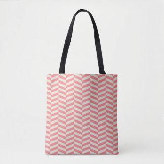 Teste padrão geométrico do ziguezague bege bolsas tote