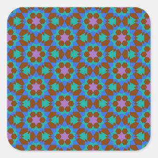 teste padrão geométrico islâmico adesivo quadrado