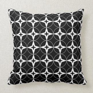 Teste padrão geométrico preto almofada