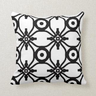 Teste padrão geométrico preto e branco travesseiro