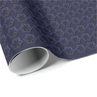 Teste padrão gravado do floco de neve papel de presente