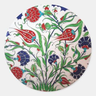 Teste padrão histórico do cravo-da-índia e da tuli adesivos redondos