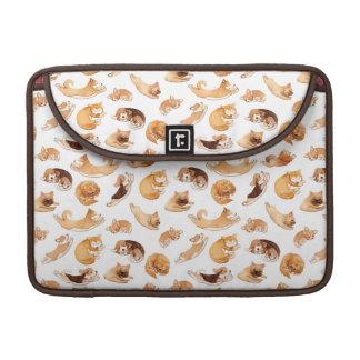 Teste padrão ilustrado da aguarela cães bonitos bolsas para MacBook pro